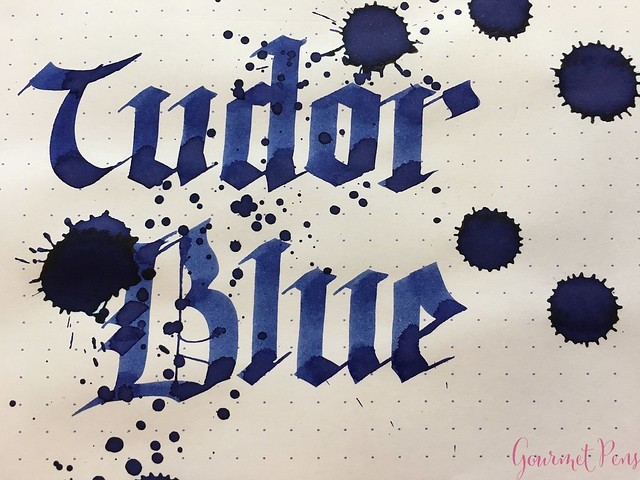 Ink Shot Review Diamine Anniversary Tudor Blue @AppelboomLaren 8