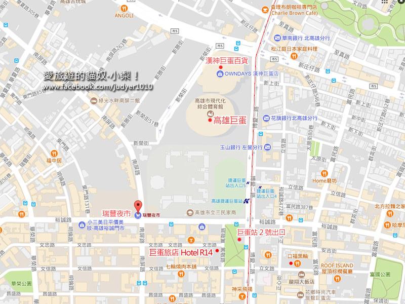巨蛋旅店Hotel R14地圖