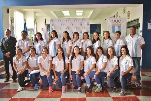 Juramentación selección femenina Mundial Softbol