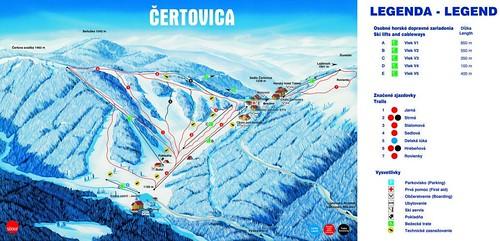 Čertovica - mapa sjezdovek