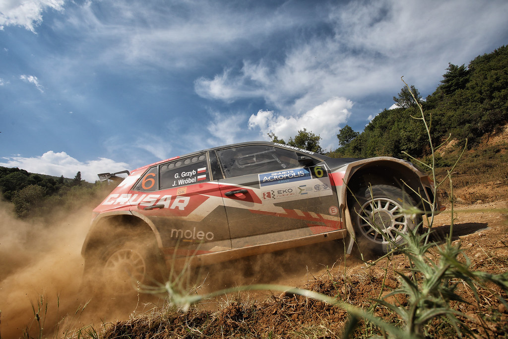 06 GRZYB Grzegorz (pol) and WROBEL Jakub (pol) action during the European Rally Championship 2017 - Acropolis Rally Of Grece - Loutraki From June 2 to 4 in Loutraki - Photo Gregory Lenormand / DPPI