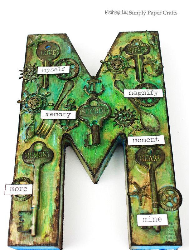 Meihsia Liu Simply Paper Crafts Mixed Media Shape M Simon Says Stamp Monday Challenge Tim Holtz 1
