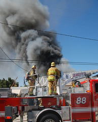 Fire Quickly Destroys Van Nuys Mask Company