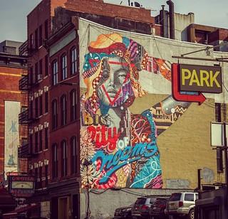 Just un front of south Broadway Manhattan #nyc #lukemart #usa  #usa #art #painting  #streetart 👍💣💯🗽march 2017