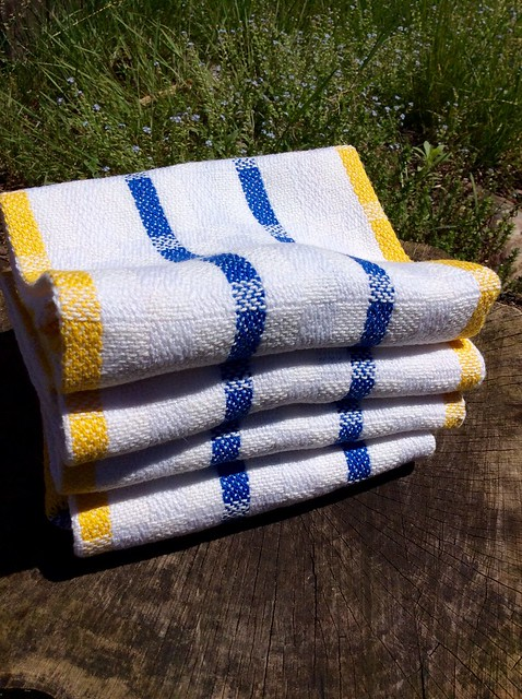 Handwoven cottolin kitchen towels Elin kit from the loom of irieknit