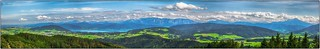 180°-Panoramablick vom Lichtenbergturm in HDR