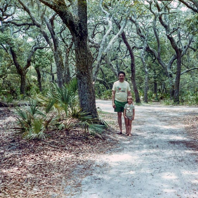 Happy Father's Day Dad ! - Camping on Hunting Island in the early 1980's