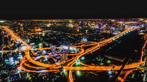 nightview night bangkok highwayinterchange fe1635mmf4zaoss longexposure nightscenery highway ilce7m2 thailand