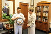 Kaptur received the Navy Crest for her years of service on in the House.   The Crest was presented by Director of FMBE CAPT Dollaga, Deputy Director of FMBE CAPT Garber, Congressional Liaison LCDR Shanley, Congressional Liaison LCDR Watts, and Congressional Liaison LT Eckard.
