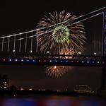 Ben Franklin Bridge Fireworks