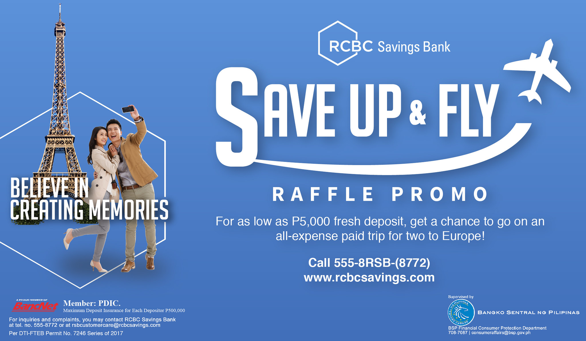 Win a Trip to Europe | RCBC Promo Save Up & Fly