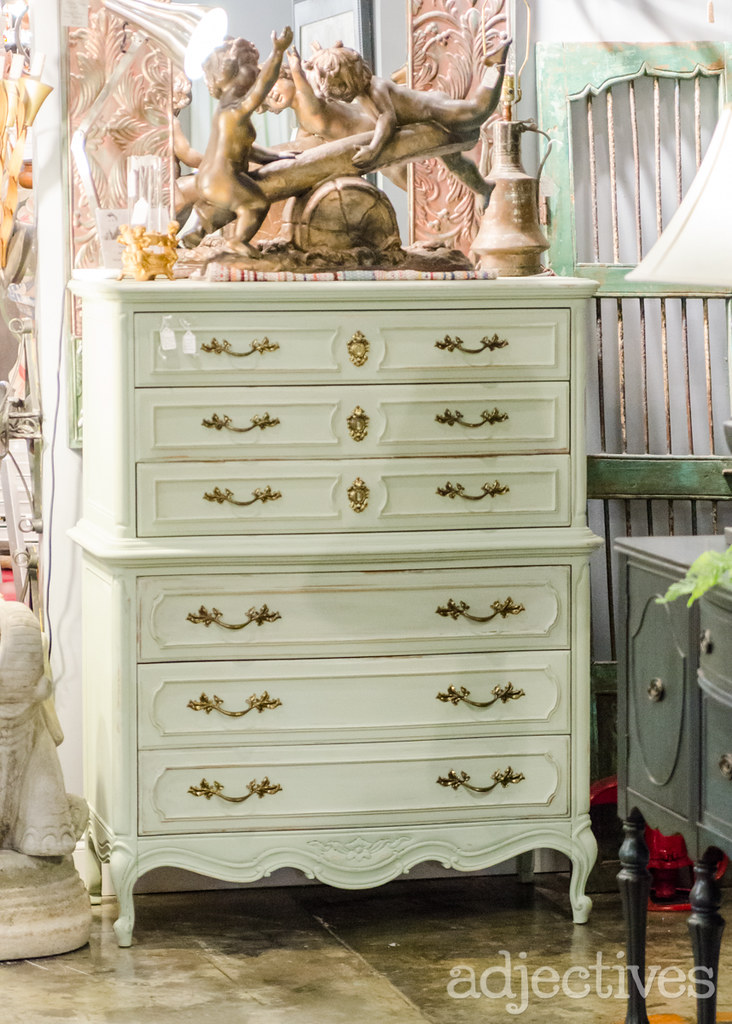 Hand Painted chest of drawers by Estate Antiques in Adjectives Altamonte