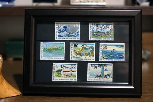 切手を額に(その6)~国際文通週間「富嶽三 十六景」