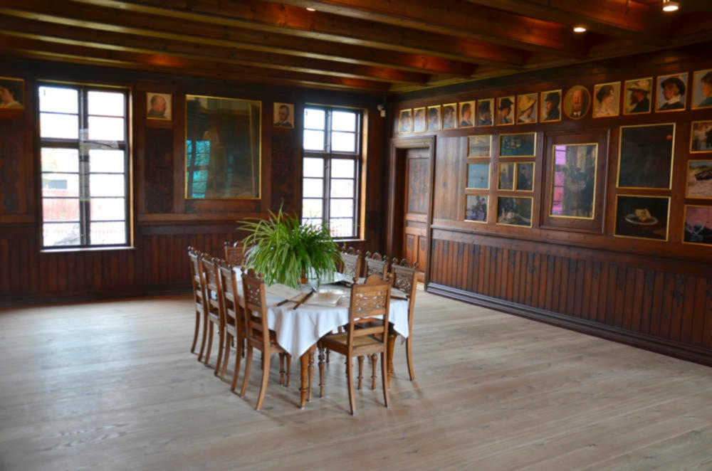 The dining room from Branden's hotel, Skagen Museum. Credit Bengt Oberger