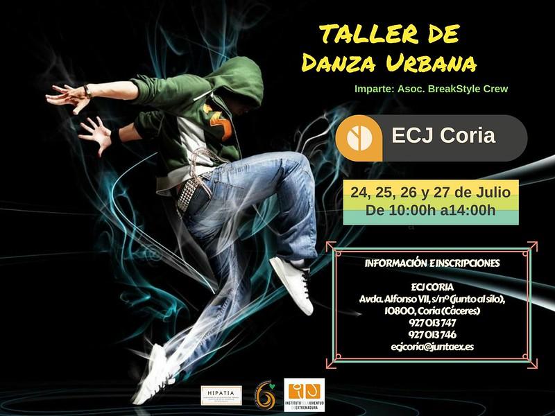 Taller de Danza Urbana en el Espacio para la Creación Joven de Coria
