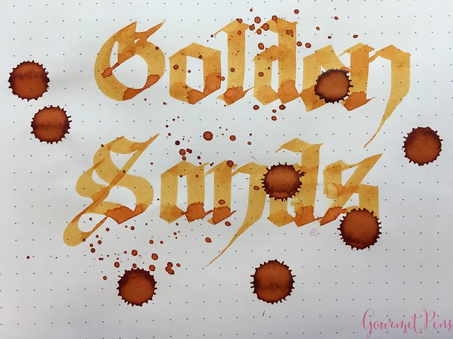 Ink Shot Review Diamine Anniversary Golden Honey @AppelboomLaren 8
