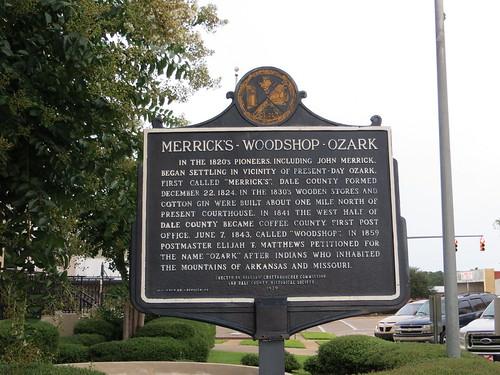 Merrick's Woodshop Ozark Marker (HCC) Ozark AL