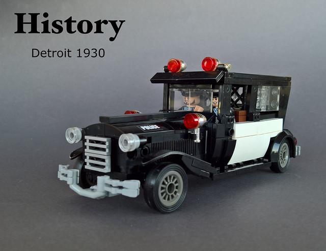 Police car Detroit 1930