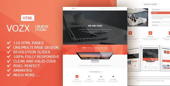 Vozx v1.0 - Multipurpose Business HTML5 Template