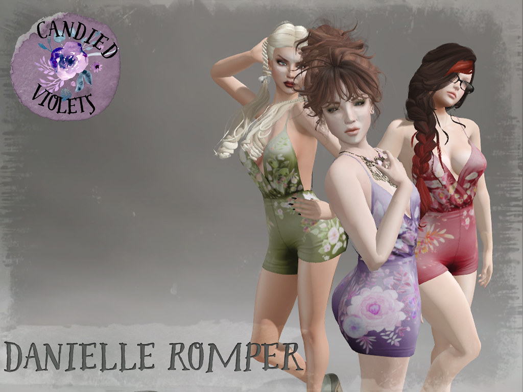 .:Candied Violets:. Danielle Romper Advert - SecondLifeHub.com