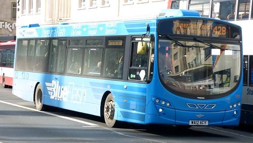 WA12 ACY 'Plymouth Citybus' No. 105 'BlueFlash' Volvo B7RLE / Wright Eclipse Urban on 'Dennis Basford's railsroadsrunways.blogspot.co.uk