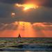 Sailing at sunset - Tel-Aviv beach by Lior. L