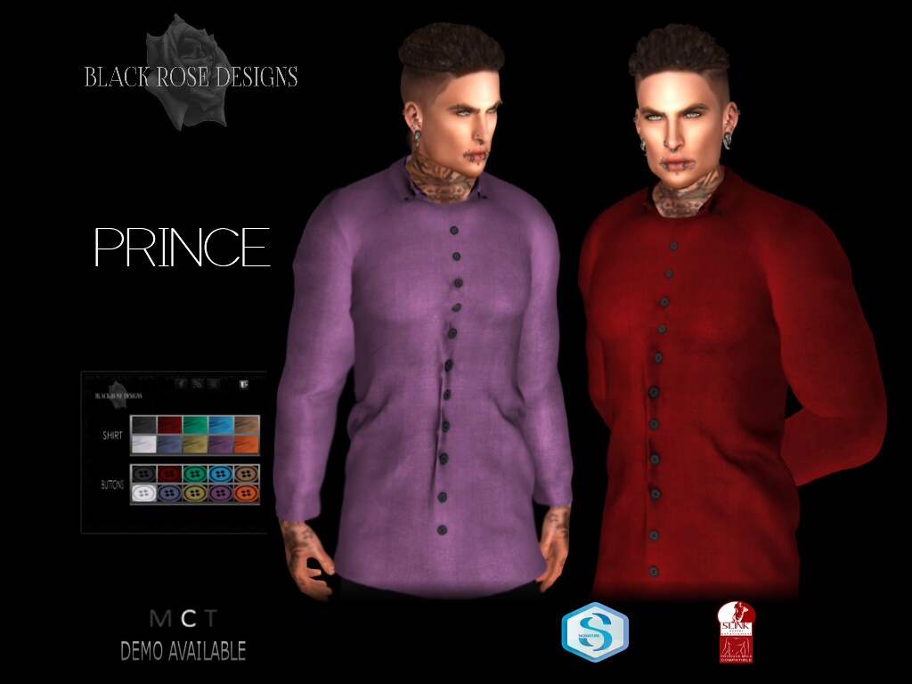 [[BR]] PRINCE SHIRT -ADVERT- - SecondLifeHub.com