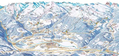 Eisacktal - mapa sjezdovek