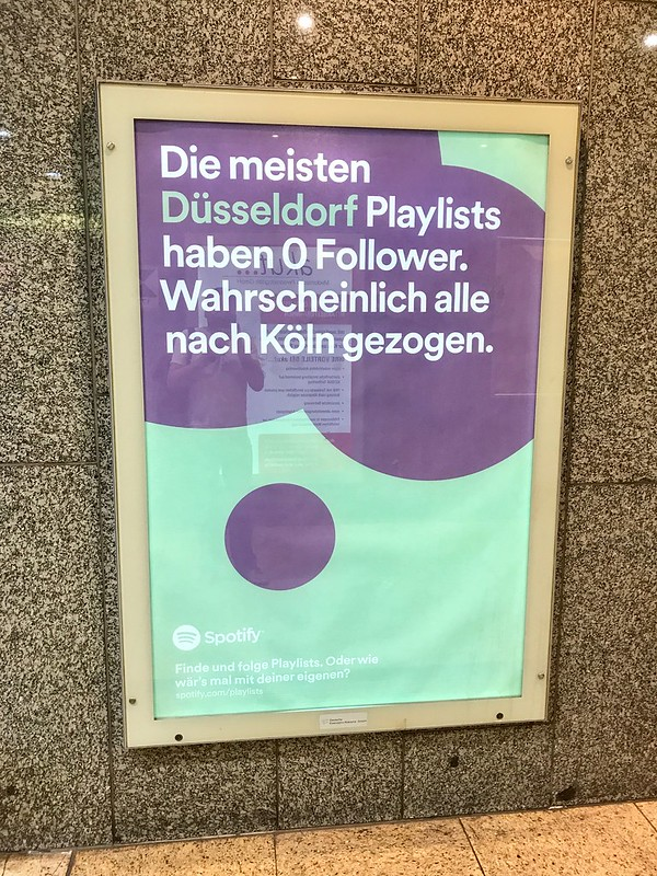Werbung Spotify Köln 1