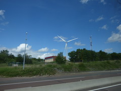 Wind farm from the Autoroute du Soleil - A6.