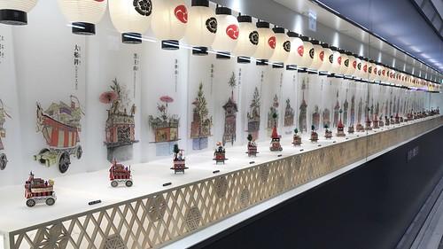 山鉾ミニチュア展示