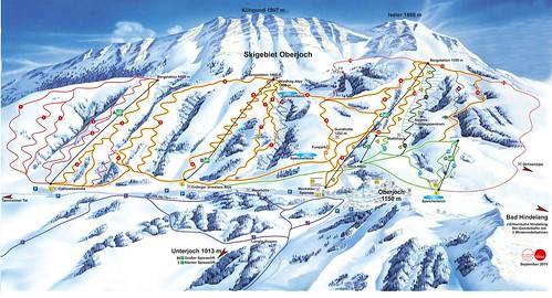 Bad Hindelang - Oberjoch - mapa sjezdovek
