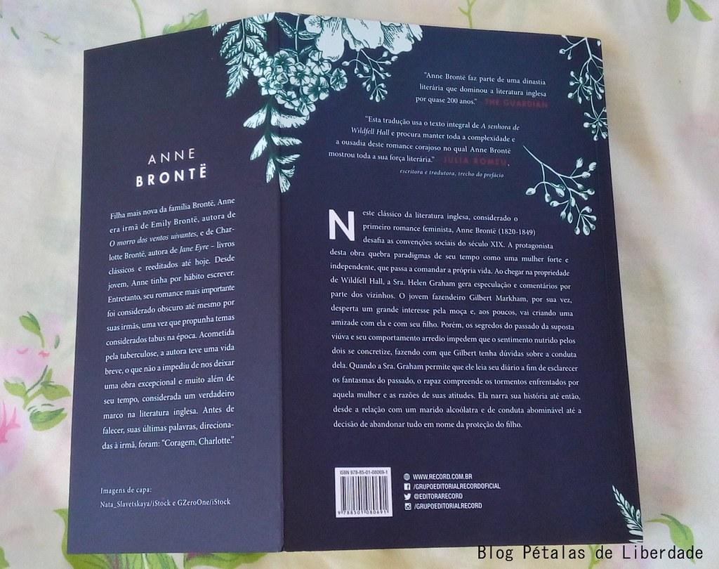 Resenha, livro, A-Senhora-de-Wildfell-Hall, Anne-Brontë, Editora-Record, texto-integral, opiniao, critica, resumo, seculo-dezenove, escritoras-inglesas, clássico, romance-de-epoca, diagramação, trecho, citação, foto, imagem, capa, sinopse, nova-edição