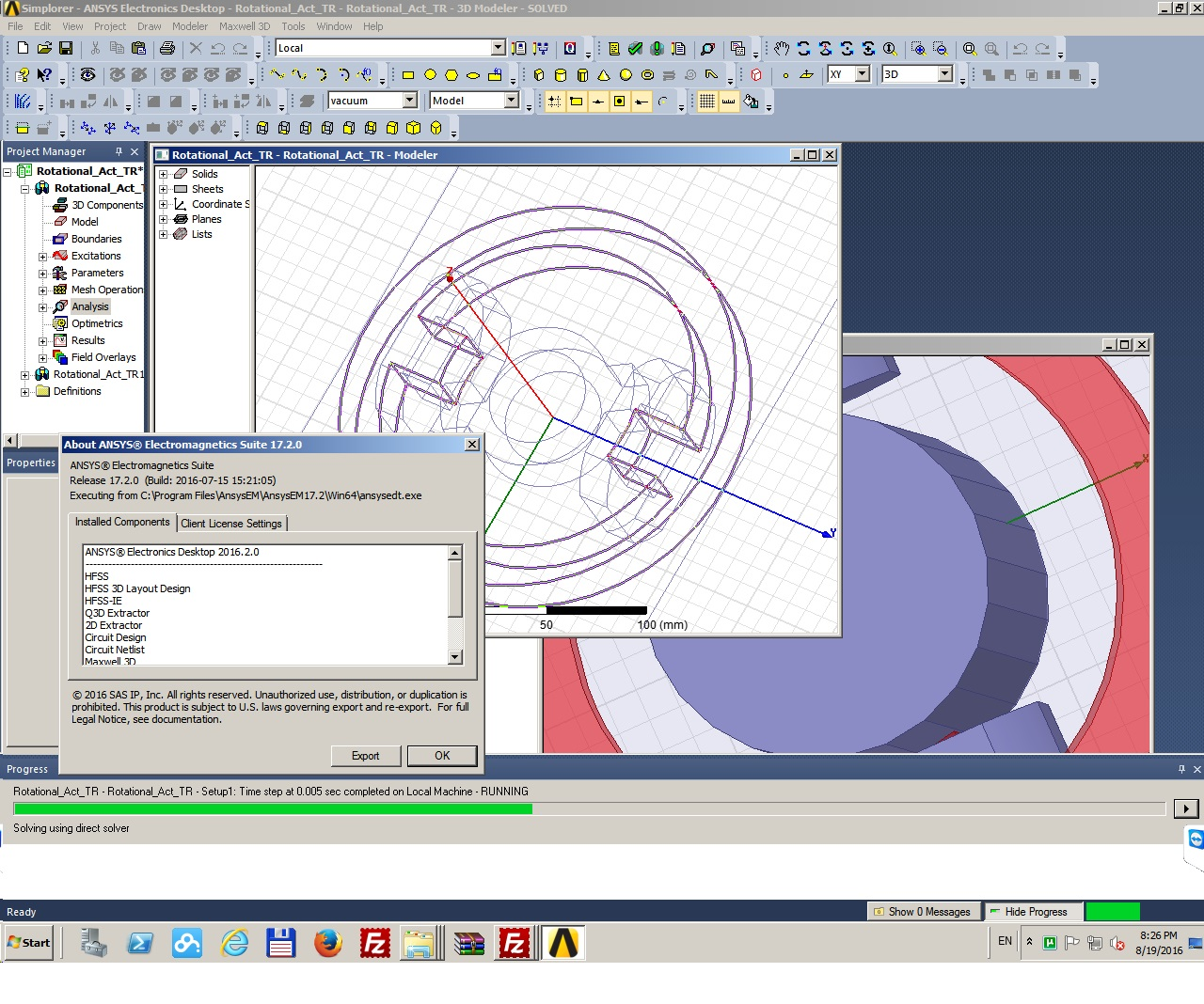 Working with ANSYS Electromagnetics Suite 17.2 Win64