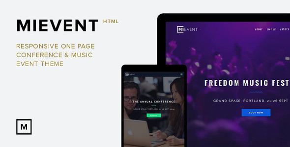 MiEvent - Responsive Parallax Event & Music Theme