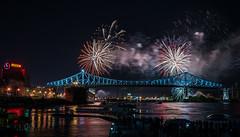 Jacques Cartier Bridge Light show & Fireworks, Take 2