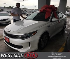 Congratulations Horacio on your #Kia #Optima Hybrid from Rick Hall at Westside Kia!