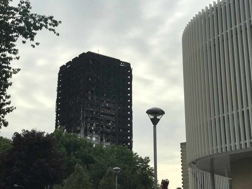 Horrifying sight, Grenfell Tower