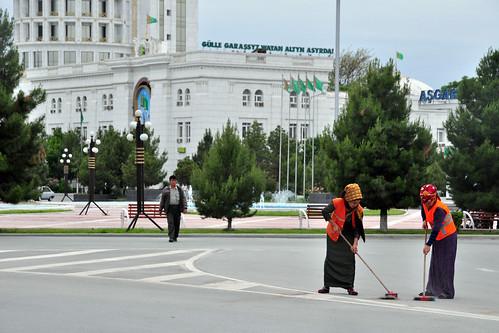 ashgabat turkmenistan people street working tm