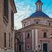 Rear of Valencia Cathedral (Cross Process Effect) (Olympus OM-D EM1-II & M.Zuiko 17mm f2.8 Pancake Prime)