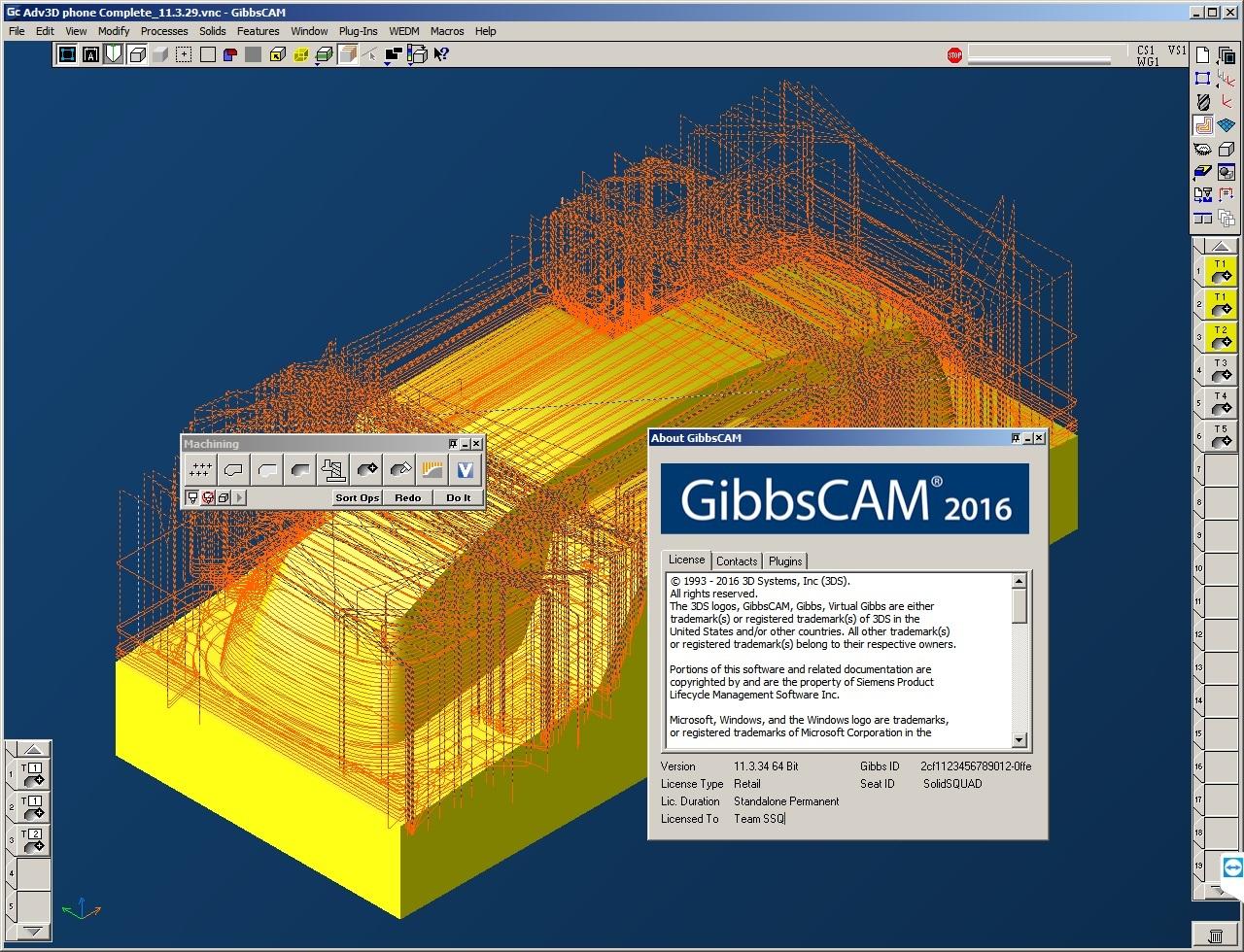 Machining with GibbsCAM 2016 v11.3.27.0 full license