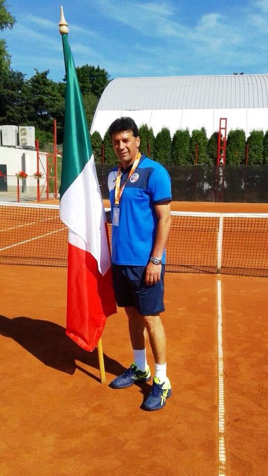 Noicattaro. Cesare Porcelli agli Europei di Tennis intero1