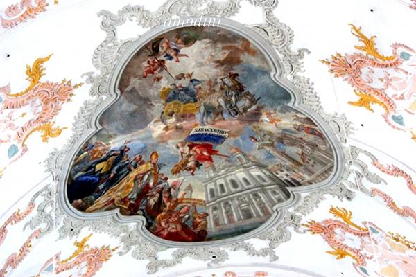 Ceiling detail, Jesuit Church, Lucerne