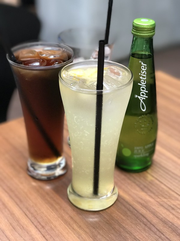 Appletiser, Plum Tea and Yuzu Tea