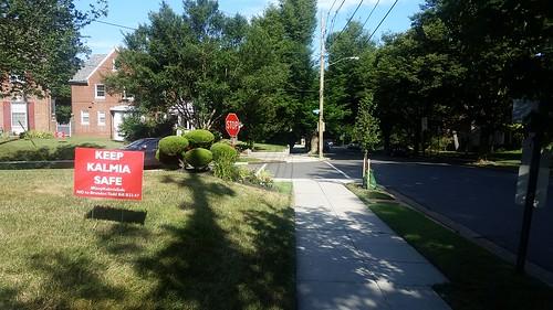Keep Kalmia Safe yard sign, advocacy sign