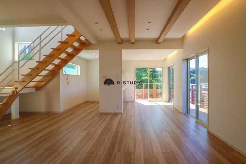 鎌倉の新築戸建:リビング・ダイニング・キッチン
