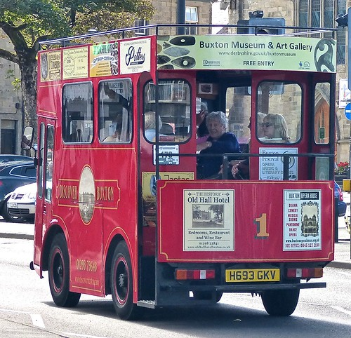 H693 GKV 'Discover Buxton Tram Co' Morrison Electricar /2 on 'Dennis Basford's railsroadsrunways.blogspot.co.uk'
