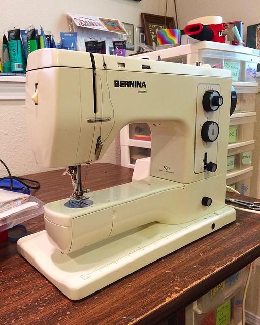 My MIL bought herself a new sewing machine so I scored her old one. I loved my Singer, but it would cost more to replace it than fix the issues!
