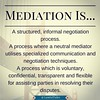 #KnowMediation  #Mediation is another of the methods of alternative dispute resolution (#ADR) available to parties.  Mediation is essentially a #negotiation facilitated by a neutral third party.  Unlike #arbitration, which is a process of ADR somewhat sim