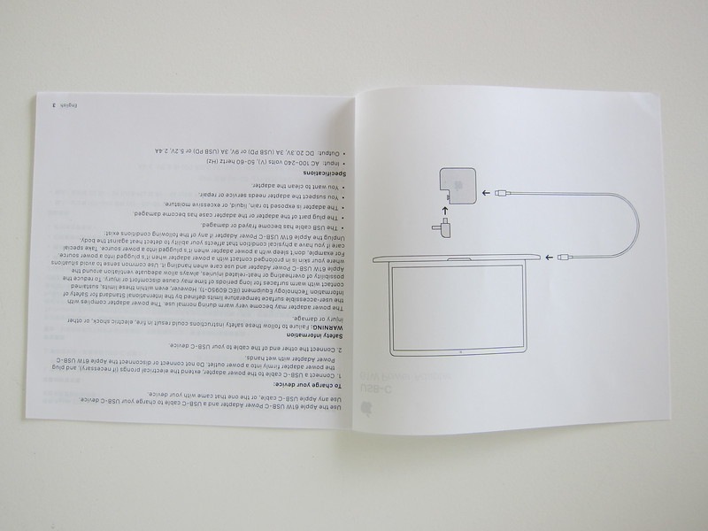 Apple 61W USB‑C Power Adapter - Instructions